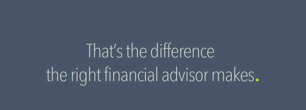 The difference a good financial advisors makes